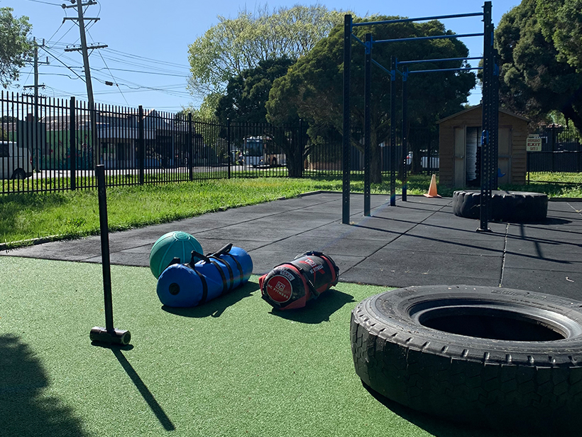 Photo of outdoor personal training at northcote